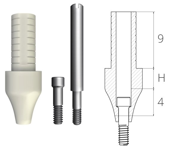 Temporary abutment Esthetic-Temp