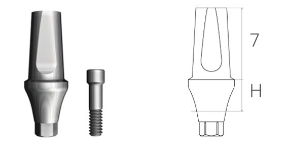 Precision straight abutment
