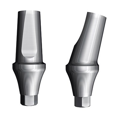 Angulated abutment 15°