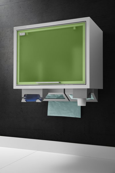 The wall units of serie Box for single-use products for dental offices
