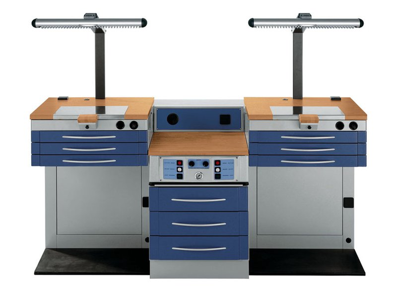 Dental lab rectangular table