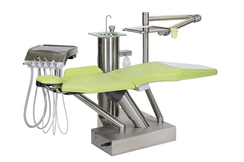 Dental chair DKL L1, green color